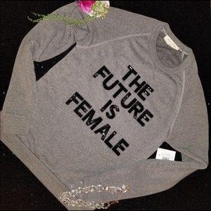 "Bow & Drape ""The Future is Female"" Sweatshirt"